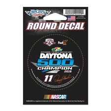 "Denny Hamlin 2016 Wincraft #11 Daytona 500 Winner Round Decal 3"" FREE SHIP"
