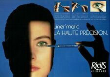 Publicité Advertising 089  1987  maquillage yeux  RicilS  LE REGARD  ( 2 pages)