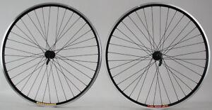 """Pair 26"""" Velocity Dyad Shimano QR Hubs 36h Mountain Bike rim brake Wheelset"""