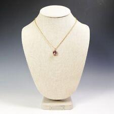 La Vie Parisienne Catherine Popesco Square Crystal Necklace in Vingtage Pink
