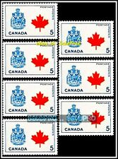 7x CANADA 1966 CANADIAN COAT OF ARMS MINT FV FACE 35 CENT MNH VINTAGE STAMP LOT