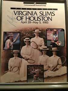 Vintage 1985 Poster, Virginia Slims of Houston, Tennis Championship Navratilova
