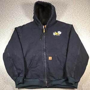 CARHARTT Mens Quilted Flannel Lined Active Jacket 3XL   J130 MDT Vintage Coat