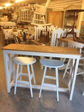 Slim Solid Pine Kitchen Island Breakfast Bar & Stools,Furniture Showroom In Kent