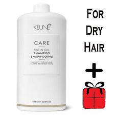 Keune Shampoo Care Line Satin Oil 1000 ml FREE SHIPPING WORLDWIDE + Gift