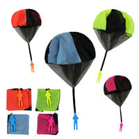 Hand throwing kids parachute toy soldier outdoor sports children toys fun gaBDA