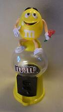 M&M´s Werbe Figur Mars M&M Gelb mit Rosen Strauß Reklame Spender Dispenser