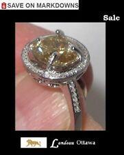 3.09 ct  Yellow Diamond Ring - Diamond Accents