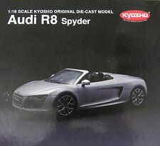 1/18 Kyosho  Audi R8 Spyder  - Silver
