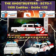 JADA TOYS Ecto-1 Ghostbusters 1/32 Cadillac 1959 Modellfahrzeug Ghostbuster NEU