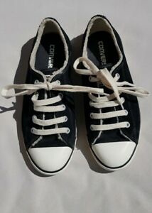 Stunning Womens Black Suede Converse Trainers Size UK 5
