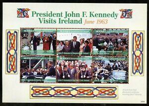 MUSTIQUE PRESIDENT JOHN F. KENNEDY VISITS IRELAND  SHEET MINT NH