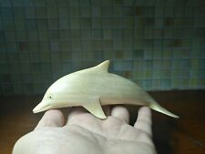 Wooden Dolphin Hand Carved Sound Animals Whistle Home Decor Collect Gift Toys