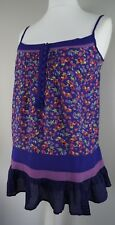 Womens HENRY HOLLAND Swing Cami Tunic Vest Top Size 10 Purple Floral