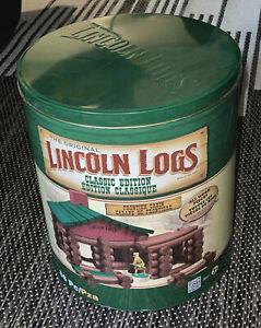 🌼 Original LINCOLN LOGS Classic Edition Frontier Cabin 86pcs COMPLETE W/ TIN ❣️