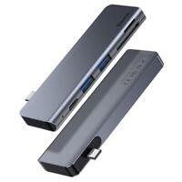 USB-C 3.0 5in1 Docking Station Alu Micro SD HUB Dock 60W für Macbook Pro