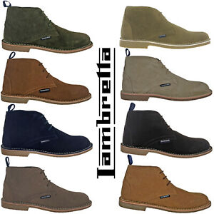 Lambretta Desert Boots Suede Leather Ankle MOD Lace Carnaby Mens Soft Round Toe
