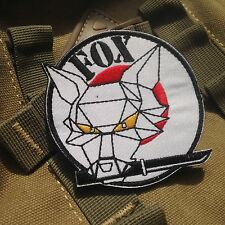 White Morale Metal Gear Solid Fox hound Tactical Army Hook &Loop Patch