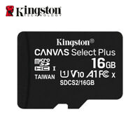 Kingston 16GB A1 MicroSD SDHC Class 10 TF Memory Card UHS-I 100MB/s Free Adapter