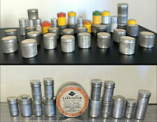 35mm Metal Film Canisters Kodak Silver Agfa Tin/Aluminum 50 Canisters Vintage