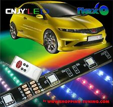 KIT LED MULTICOLOR BMW AUDI VW SEAT NEON SOUS CHASSIS AVEC TELECOMMANDE FLEX'O