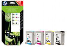 PACK 4x CARTOUCHEs HP 940XL NOIRE + CYAN + MAGENTA + JAUNE / c2n93ae noir 940 xl