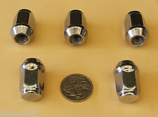 5 CHROME WHEEL NUTS SUIT HOLDEN FE FC FB EK EJ EH HD HR HK HT HG HQ HJ HX HZ WB