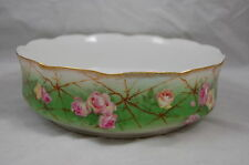 ANTIQUE LIMOGES ROSES  HAND PAINTED FERNER BOWL VASE