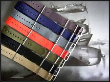20mm Tan NATO g10 Ballistic weekend watch strap stitch Bonded IW SUISSE 18 22 24