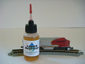 Liquid Bearings, BEST plastic-safe 100%-synthetic oil for Marklin or any train!