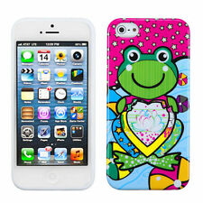 For Apple iPhone 5 5S SE TPU CANDY Gel Flexi Skin Case Phone Cover Lotus Frog