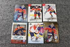 Lot of 6 Original Florida Panthers Hockey NHL Cards Signed Autograph