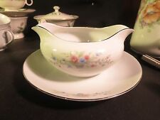 Florenteen Fine China Fantasia Gravy Boat w/ Attached Underplate Made in Japan