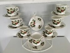 8  Beautiful Hammersley/Spode  Strawberry Ripe  Tea Cups & Saucers China