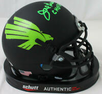 Joe Greene Autographed North Texas Flat Black Mini Helmet w/CHOF- Beckett W Auth