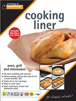 Toasterbags Reuseable Non-Stick Cooking Liner Wipe or Wash Clean 33 x 40cm