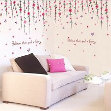 DIY Decor Flower Rattan Removable Wall Stickers Wall Decal Mural Home Art Paster