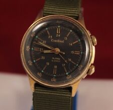 Vintage Military Gold Plate POLJOT Cardinal SIGNAL Mechanikal Alarm Soviet Watch