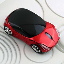 1000DPI Wireless Blue Car Optical Mouse +USB receiver for Laptop Computer AJ
