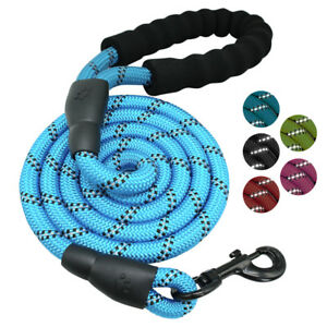 Climbing Rope Dog Leash 5ft Reflective Thick Nylon Walking Leads Close Control