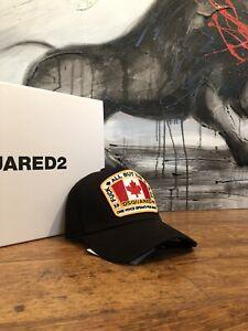 NEU!!! Dsquared2 Cap Canada Flag (Nero/Black)NEU!!
