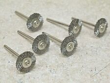 "6pcs     3/4"" wire wheel   with   1/8""  stem   stainless steel   Weiler  26005"