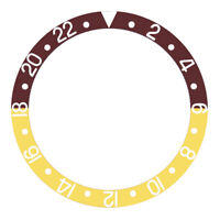BEZEL INSERT ALUMINUM FOR ROLEX GMT I 16700 16710 16713 16718 BROWN/GOLD SILVER