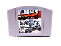 F-1 World Grand Prix Nintendo 64 N64 Racing Authentic Tested Video Game Cart