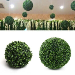 2x Natural Artificial 28cm Boxwood Ball Topiary Indoor/Outdoor Hanging Pot Plant