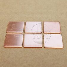 6Pcs Copper CPU GPU Thermal Pad Shim 1.5cm x 1.5cm x 0.5mm