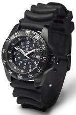 Smith & Wesson SWW-32-R Blue Tube Tritium H3 Black Rubber Strap Watch