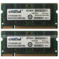 Used 8GB KIT 2x4GB PC2-6400 DDR2-800MHz DDR2 200pin Sodimm Laptop Memory RAM