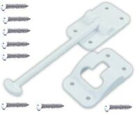 Plastic Door Holder 3-1//2 inch Entry Door Hardware White RV Designer E231 T Style