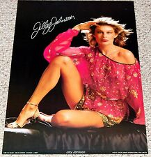 JILLY JOHNSON Poster 1980 C/C Mancave Workshop Sexy Blonde Boobs Hot Girl Babe